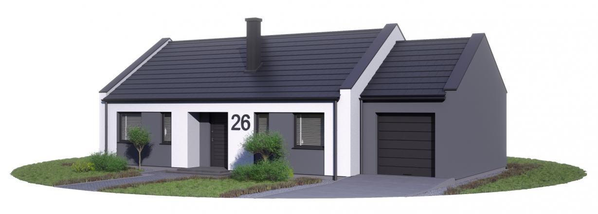 Projekt Karol dach dwuspadowy