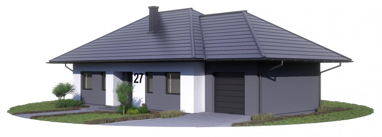 Projekt Karol dach kopertowy