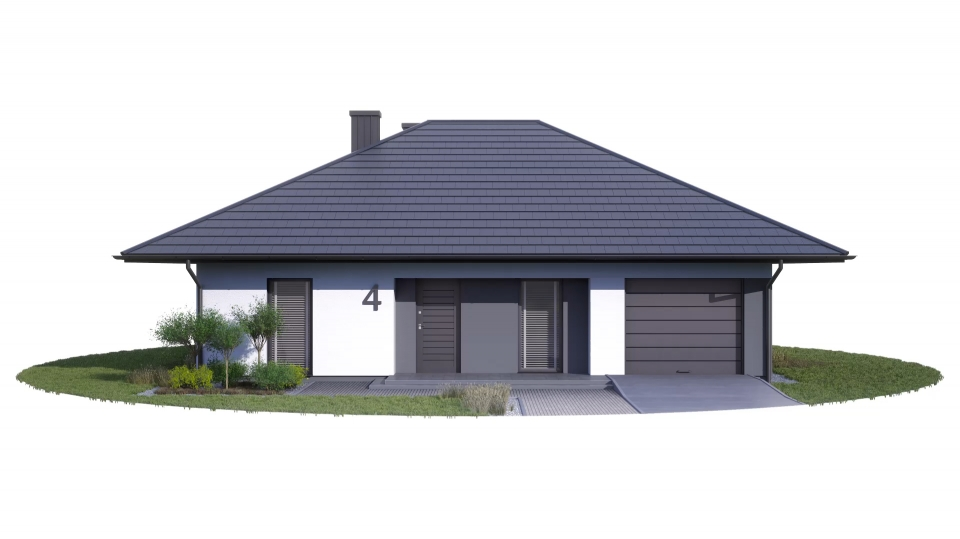 ETAP 1 - Działka nr 8 projekt nr 4 z garażem