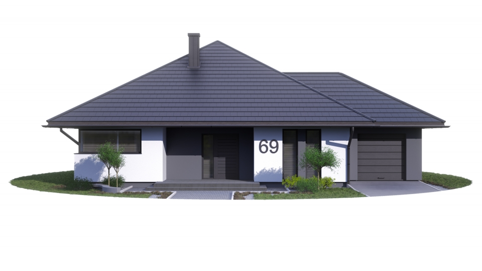 ETAP I - dz. nr 96 projekt Bartek z garażem