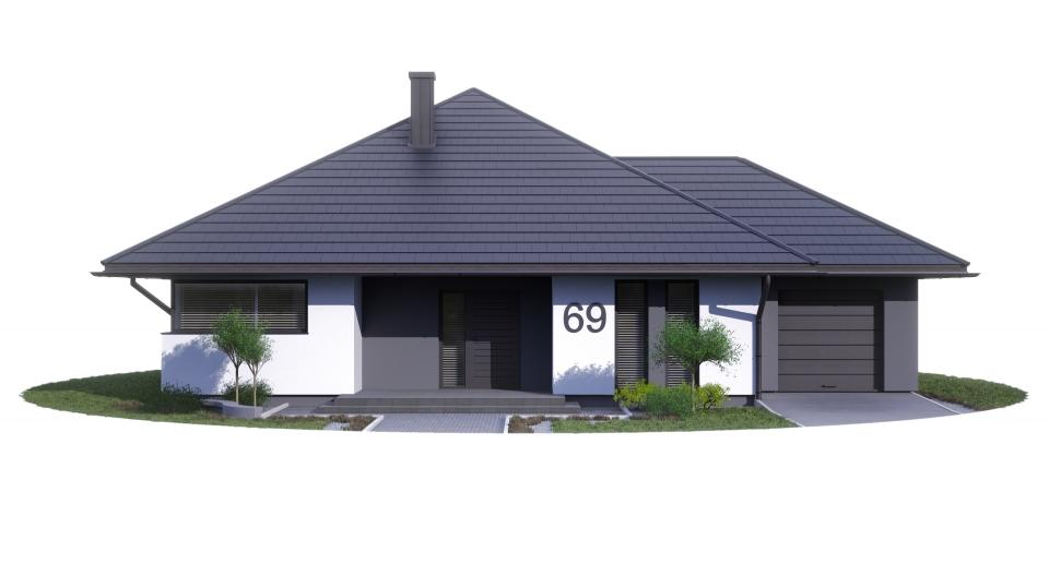 Etap II dz.67 proj. Bartek z garażem